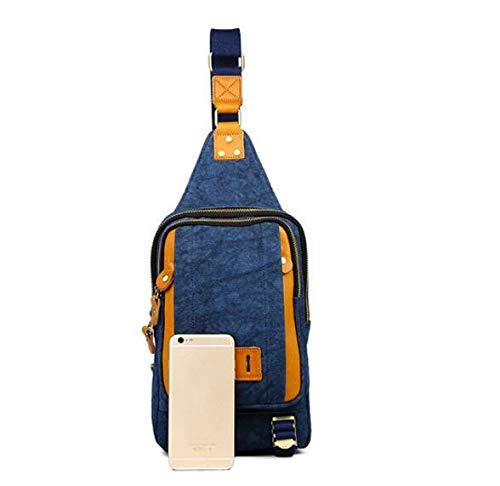 MINISU Jahrgang Herren Canvas Canvas Canvas Brusttasche Multifunktions Outdoor Sports Umhängetasche Mode Schulter Messenger Rucksack (blau) Crossbody B07P8QBQP8 Daypacks Offizielle Webseite d68171