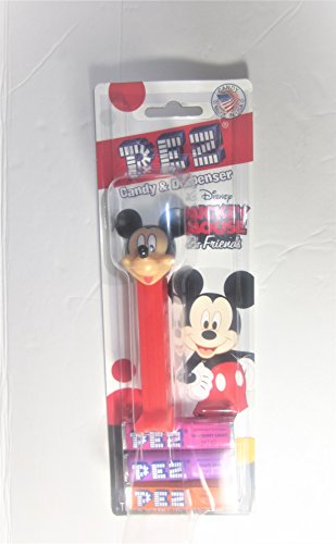 Mickey Mouse & Friends Pez Dispenser on Blister Card with 3 Rolls of Candy Each