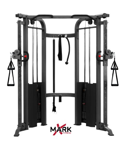 XMark  Functional Trainer Cable Machine with Dual 200 lb Weight Stacks XM-7626