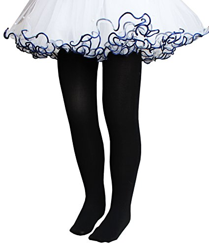 CHUNG Toddler Little Girls Summer Footed Dress Tight Ballet Dance Light Stretch 3-10Y, Black-LZS, 3-4Y