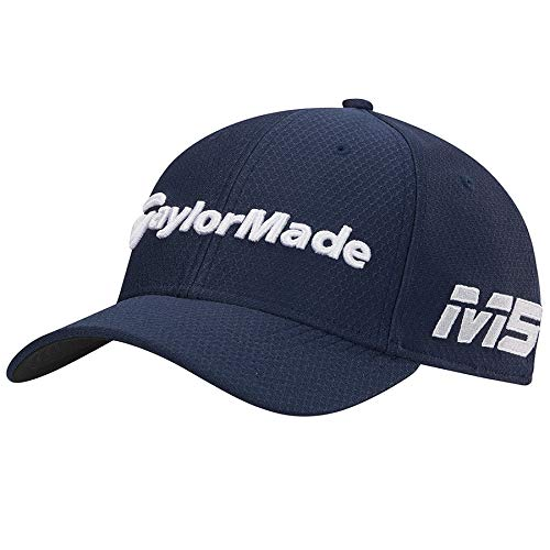 TaylorMade 2019 New Era Tour 39Thirty Hat, Navy, L/XL