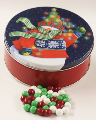 Scott's Cakes Christmas Chocolate Dutch Mints in a Small Holiday Lites Tin ()