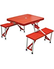 Picnic Time 'Portable Folding Picnic Table' with Seating for 4, Red