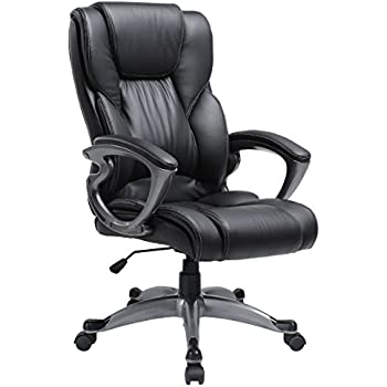 Amazon Com Yamasoro Leather Office Chair High Back Computer Gaming Desk Chair