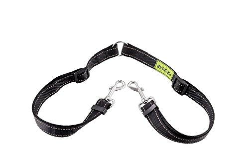 PROIMB Dog Leash Coupler No Tangle Double Dog Walker 2 Dogs Adjustable Splitter Lead for Small Medium Dogs (Nylon Adjustable) -
