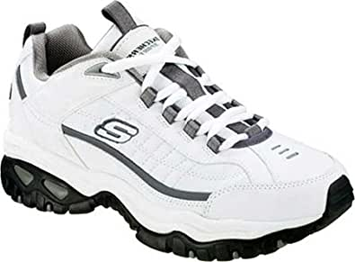 Skechers Men's Energy After Burn,White/Charcoal,US 6.5 W