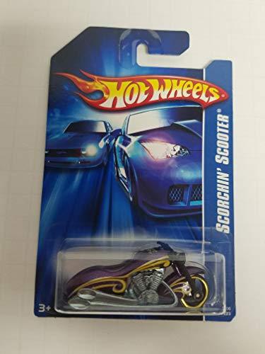 (Scorchin' Scooter No. 183 Orange Color Alt Package Hot Wheels 2006 1/64 scale diecast car)