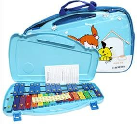 SAMICK 27key Student Xylophone Instrument with case and mallets Blue color by SAMICK