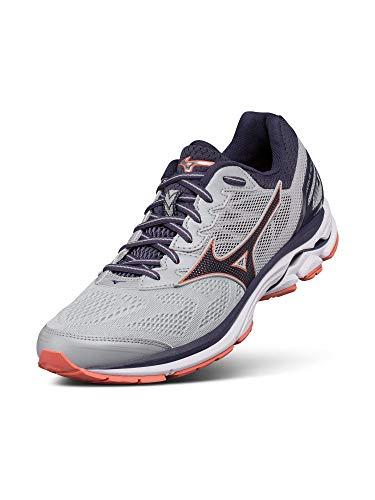Mizuno Running Shoes. Mizuno Women's Wave Rider 21 Running Shoe Athletic Shoe, high rise/gray stone, 7.5 B US. #runningshoes