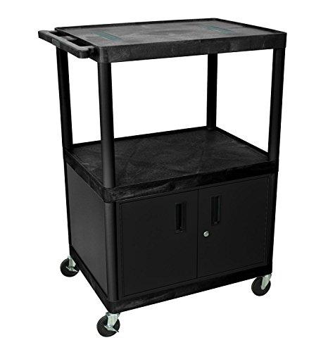 Luxor Black Endura 3 Shelf Multipurpose Utility Cart With (Luxor Endura Video)