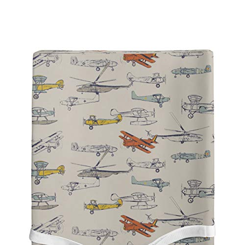 Glenna Jean Changing Pad Cover, Flying High, Beige, Standard ()