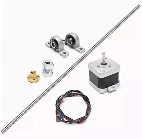 CHENBIN-BB ツール木工ステッピングモータとT8リードスクリューロッドとSet 500ミリメートル耐久性のあるツールをボールベアリングをマウント