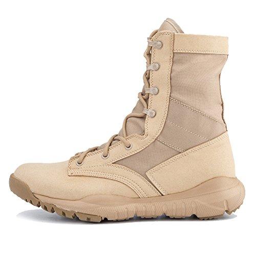 IODSON US Mens' Ultra-Light Combat Boots Military Tactical Work Boots 9 D(M) US - Light Mens Boots