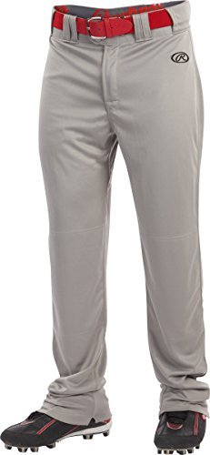 Rawlings Sporting Goods Launch Baseball Pants, Grey, - Baseball Elastic No Pants With