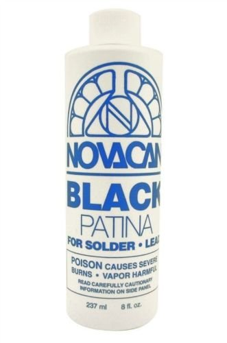 Novacan Black Patina For Solder & Lead 8oz - Stained Glass Supplies