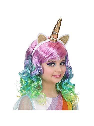 Widmann 46935 Perruque pour Enfant Motif Licorne Multicolore
