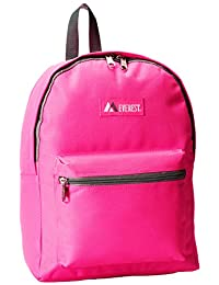 Everest Basic Backpack, Hot Pink, One Size