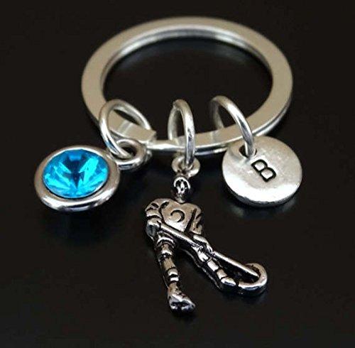 Ringette Keychain, Ringette Charm, Ringette Pendant, Ringette Gifts, Ringette Gift for Her, Ringette Women, Ringette Girl, Ringette Mom, Ringette Girlfriend, Ringette Wife, Ringette Team Gift