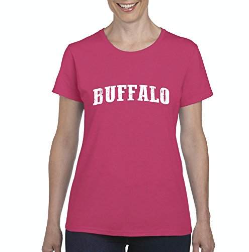 City of Buffalo New York Traveler`s Gift Women's Short Sleeve T-Shirt (XLHP) Heliconia -