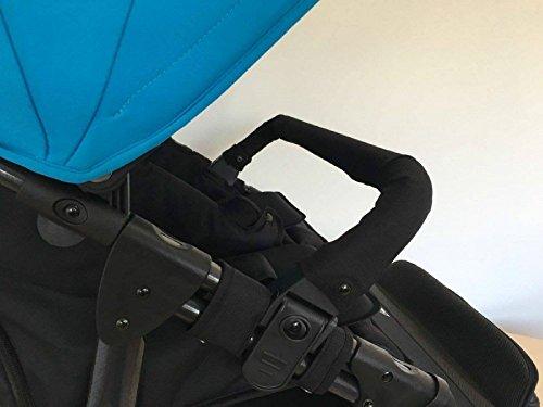 Baby Monsters - Bolso cambiador para la silla de paseo Easy Twin, color negro barra