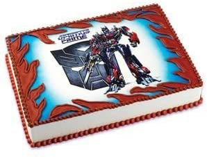 Strange Amazon Com Transformers Optimus Prime Edible Cake Topper 1 Personalised Birthday Cards Paralily Jamesorg
