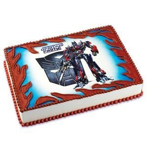 Amazoncom Transformers Optimus Prime Edible Cake