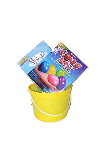 Price comparison product image Majestic Candy Apple Easter Egg Decorating Kit Bundle – 4 Items; 2 Egg Coloring Kits,  1 Basket,  1 Grass Packet
