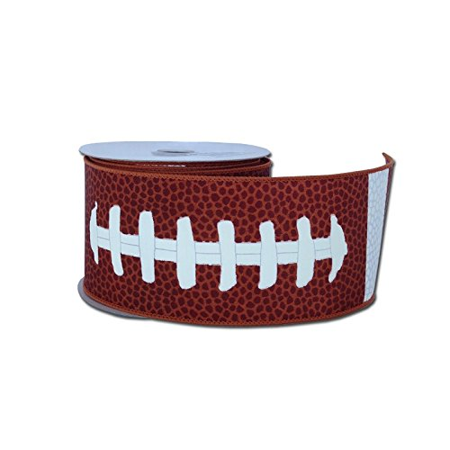 Football Laces Wired Ribbon : Brown White : 2.5 X 10 Yards : RG1093 Craig Bachman 4336858390