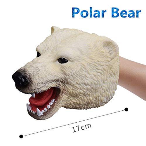 - GMSP 17 Styles Dinosaurs Animals Beasts Soft Hand Puppet for Teens Children, Rubber Realistic Jurassic Dinosaur Christmas Birthday Party Supplies. (Polar Bear)