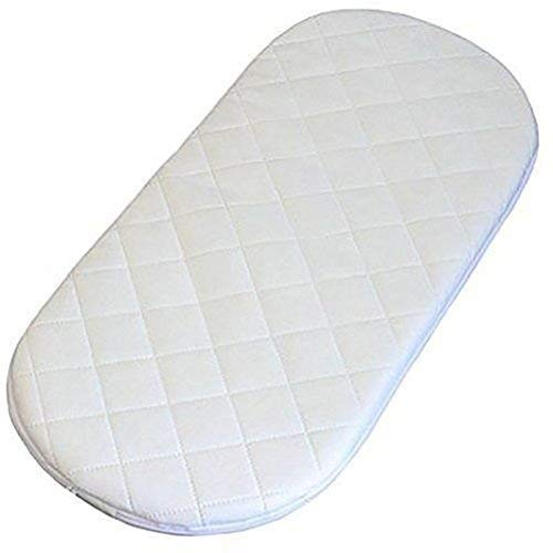 MOSES BASKET FOAM MATTRESS BASSINET BABY PRAM OVAL FULLY BREATHABLE QUILTED