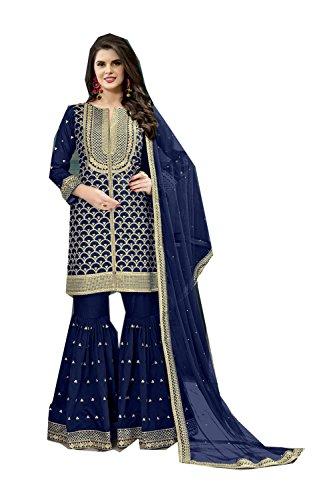 Da Facioun Indian Women Designer Partywear Ethnic Traditonal Salwar Kameez. Da Facioun Femmes Indiennes Concepteur Partywear Ethnique Traditionelles Salwar Kameez. Blue 3 Bleu 3
