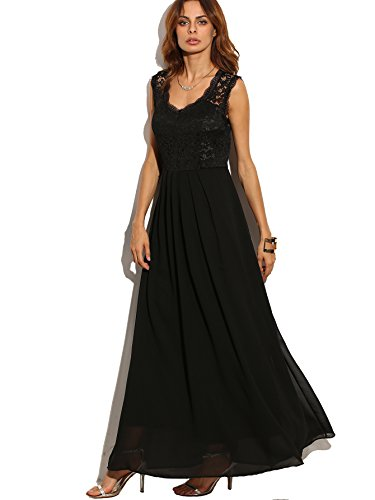 long black fitted maternity dress - 9
