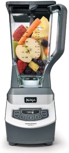 Ninja Professional Countertop Blender with 1100-Watt Base, 72 Oz Total Crushing Pitcher and (2) 16 Oz Cups for Frozen Drinks and Smoothies (BL660), Gray 41XVFdo HgL