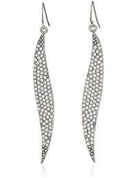 ABS By Allen Schwartz Pave Wave Drop Earrings