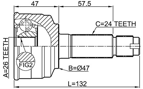 Outer CV Joint 26X47X24 For Toyota 43420B1010