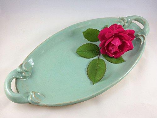 Ceramic Oval Platter in Pistachio Green (Pistachio Glaze)