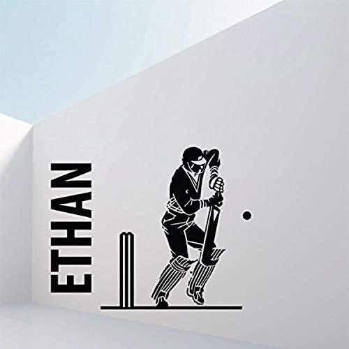 Personalised Cricket Bedroom Den Large Wall Decals Decor Vinyl Sticker SK11656