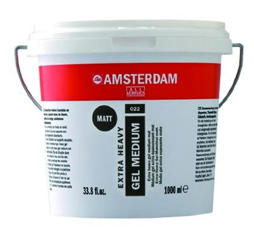 Royal Talens Amsterdam X-Heavy Gel Medium, 1 Liter Tub, Matte (24192022) by Amsterdam