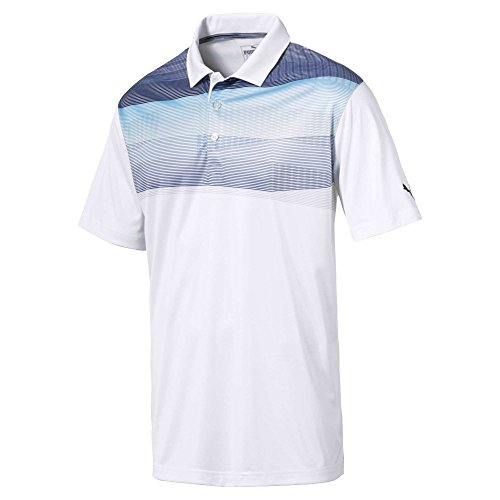 Puma Golf Mens 2018 PWR Cool Refraction Polo, X-Large, Blue Atoll