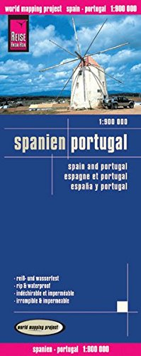 Spanien, Portugal (1:900.000) (World Mapping Project) (Englisch) Landkarte – Folded Map, 16. April 2012 Reise Know-How 3831772509 Karten / Stadtpläne / Europa Gazetteers & Maps)