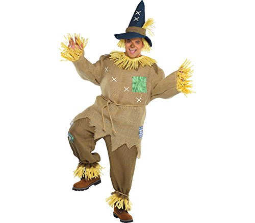AMSCAN Mr. Scarecrow Halloween Costume for Men, Plus, with Included Accessories ()
