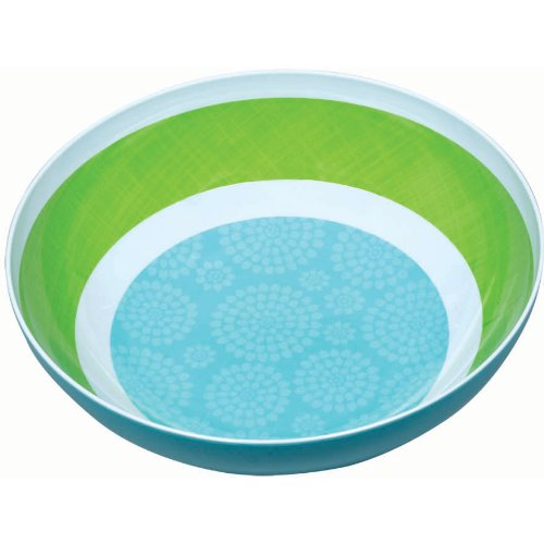 Amscan - Blue and Green Large Round Printed Bowl