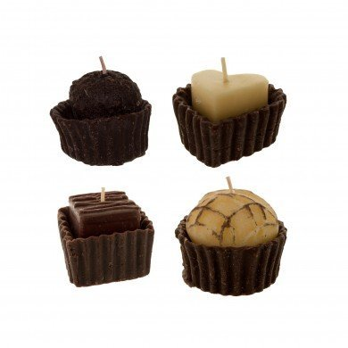 Gourmet Chocolate Truffle Candles- Look and Smell Like Real Chocolate! Pack of ()