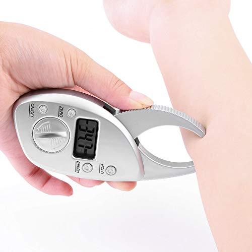 (Crispsound ABS Plastic Stylish and Lightweight Body Fat Caliper Monitors Electronic Digital Body Fat Analyzer Pack Skin Muscle Tester)