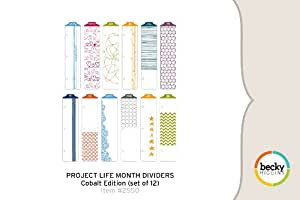 Project Life Month Dividers - Cobalt Edition