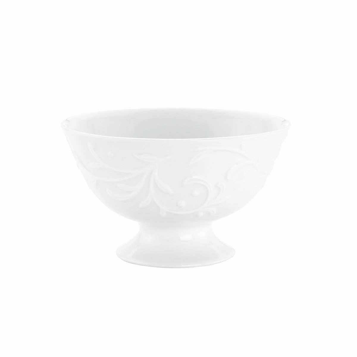 Lenox Opal Innocence Carved 4-1/2-Inch Footed Dessert Bowl