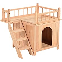 Pet House Wooden Dog Cat Puppy Room Bed Platform Bed Shelter Indoor Outdoor