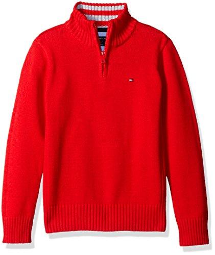 tommy-hilfiger-big-boys-edward-half-zip-with-rib-stitch-sweater-bullseye-red-large