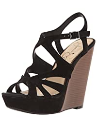 Jessica Simpson Women's Brissah Leather W Ankle-High Leather Pump