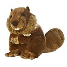 "Beaver 9"" Miyoni Stuffed Animal"